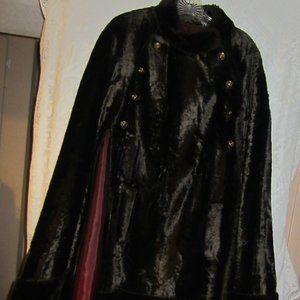 Vintage brown faux fur cape stunning